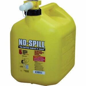No spill 1457 Poly Diesel Fuel Can With Rear handle 5 gallon