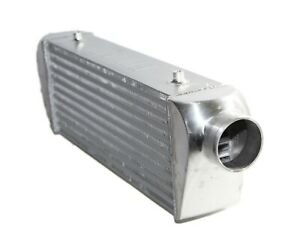 Emusa Universal Intercooler 27x7x4 3 Inlet And Outlet Tube And Fin