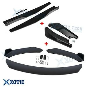 Front Bumper Spoiler Diffuser Side Skirt Rear Lip Molding Body Kit Universal 7x