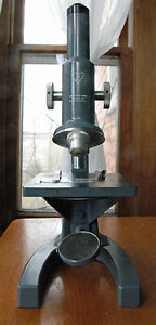 Bausch Lomb Microscope Gray Finish With 2 Objective Lenses