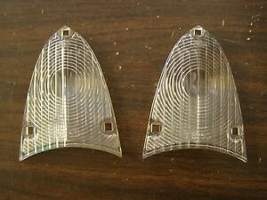 Nos Oem Ford 1955 Thunderbird 1956 Mainline Customline Backup Light Lamp Lenses
