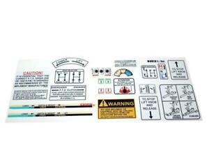 David Brown Tractor Warning Operations Decal Kit 880 990 995 996 1210 1412