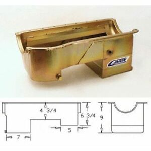 Canton 15 720 Street strip Wet Sump Oil Pan For Ford 351c Mustang