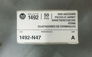 Allen Bradley nib 1492 n47 1492n47 Box Of 50 Terminal Blk End Anchors