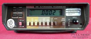 Keithley 485 Auto Picoammeter Calibrated Ready To Ship