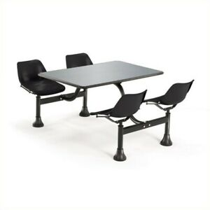 Ofm Outdoor Table 24 X 48 And 4 Chairs In Black