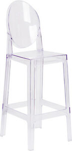 Lot Of 10 Ice Cream Yogurt Shop Transparent Ghost Crystal Stool With Oval Back