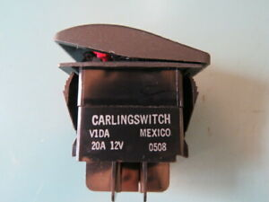 Carling Technologies V1dasw0b azw00 0 Qty Of 5 Per Lot 20a 12v Rocker Switch re