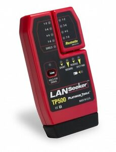 Platinum Tools Tp500c Lanseeker Cable Tester Self stored Remote