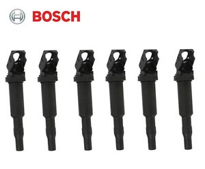 Bmw Set Of 6 Ignition Coils With Spark Plug Connectors original Bosch Version