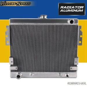 Aluminum Racing Radiator For Ford Mustang Ii 5 0l V8 Stamp Tank 75 78 75 76