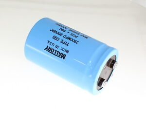 Mallory 1900uf 250v Large Can Electrolytic Capacitor Cgs192t250w4c3ph