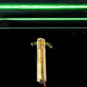 Focusable 532nm 100mw Green Laser Line Module adjustable Beam Size green Laser