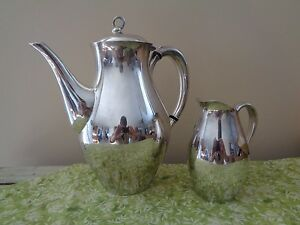 Reed Barton Silverplate Americana Coffee Pot Creamer No Monos