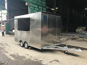 New 3mx1 8m Stainless Steel Concession Stand Trailer Mobile Kitchen Ship By Sea
