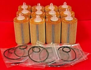 Case Of 12 Fram Ch10295 Engine Oil Filter For Lexus Lx570 Toyota Sequoiatundra