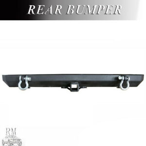 New Fit 1986 2006 Jeep Wrangler Tj Yj Black Textured Steel Rear Bumper On Sale