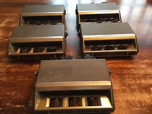 Lot Of 5 General Electric Rangr Radio Control Heads