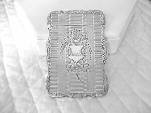Antique Victorian Dated 1870 Enlish Solid Silver Calling Case Engraved Annie