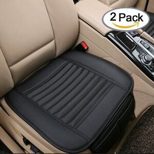 2pc Pu Leather Car Cover Seat Protect Cushions Front Universal Cover Pad Mat