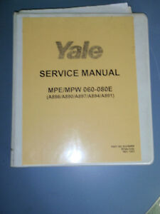 Yale Service Manual 524164529 _ Mpe mpw 060 080e Electric Lift Truck Forklift