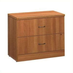 Filing Cabinet File Storage 2 Drawer Lateral Wood Locking In Avant Honey