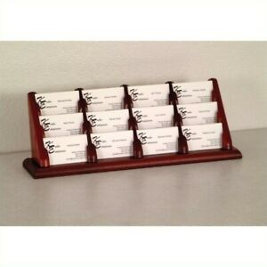 Wooden Mallet 12 Pocket Business Card Holder In Mahogany Holders