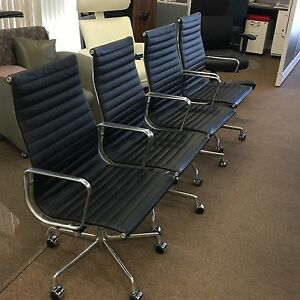 Herman Miller Eames Aluminum Group Executive Chairs hi back