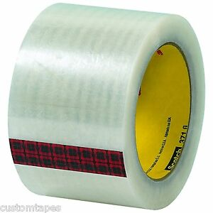3m 371 Scotch Brand Clear Carton Sealing Tape 3 X 110yd 24 Rolls Free Ship