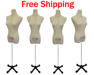 Female Dress Form Mannequins For Bridal Clothing Display set Of 2 With Stand