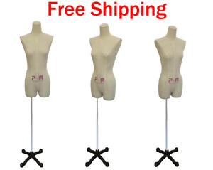 Female Dress Form Mannequin For Lingerie Display Size Medium W Base
