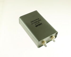 1x 4mfd 600vdc Hermetically Sealed Oil Capacitor 4uf 600v 600 Volts Dc