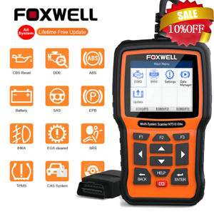 Foxwell Engine Abs Srs Transmission Automotive Scanner Obd2 Diagnostic Scan Tool