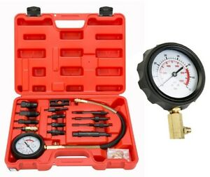 0 1000psi Diesel Engine Compression Cylinder Pressure Gauge Tester Set Us Ship