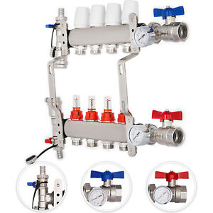 4 branch Radiant Floor Heating Pex Radiant Easy To Install Manifold Set Pro