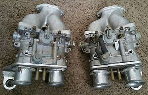 Volkswagen Vw Porsche Dellorto Drla 36 Dual Throat Carburetors With Intakes