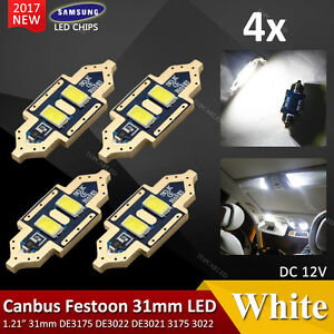 4 X 31mm 5630smd 2led Canbus Car Interior Map Dome Festoon Light White Brightest