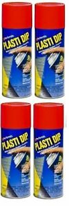 4 Pack Plasti Dip Mulit purpose Rubber Coating Spray Red 11oz Aerosol