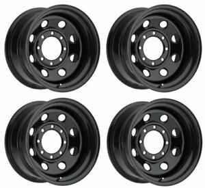 Vision Wheel 85h7981ns Set Of 4 Black 85 Soft 8 17x9 12 Offset 8x6 5 Rims