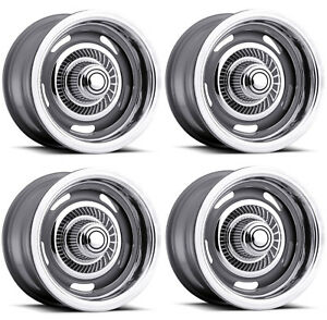 Vision Wheel 55 5704 Set Of 4 Silver 55 Rally 15x7 6 Offset 5x4 5 Rims