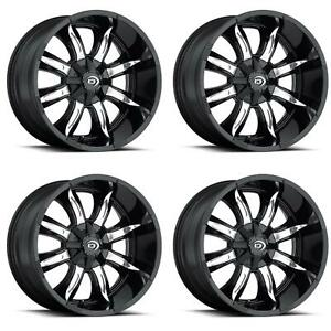 Vision Wheel 423 7985gbmf12 Set Of 4 Black W Machined Face 423 Manic 17x9 Rims