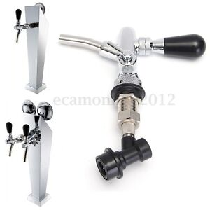 G5 8 Draft Beer Faucet Dispenser With Flow Controller Chrome Plating Shank Tap