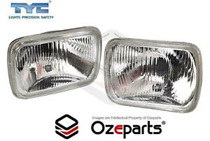 Pair Of Head Light Lamp With Park Light Hole For Honda Accord Ca 86 96