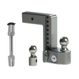 Weigh Safe Adjustable 8 Drop Hitch Ball Mount W Tongue Weight Scale
