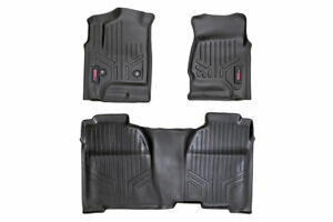 Rough Country Floor Mats Front Rear crew Cab 14 17 Chevy 1500