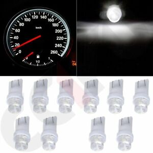 10x White T10 194 Led Bulbs Dash Instrument Panel Cluster Gauge Light For Benz