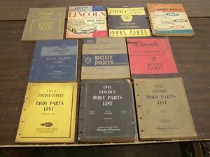 Oem Ford 1940 1955 Lincoln Master Parts Books Body Cosmopolitan Capri 1953 1954