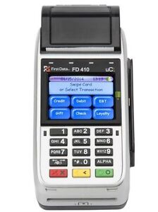 First Data Fd410 Dw Emv Nfc Wireless Credit Card Machine 100 G