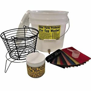 Rite Farm Products Pro Egg Washer Kit Chicken Poultry Washing Incredible Machine