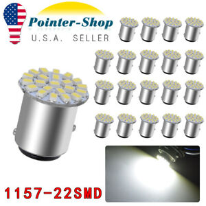 20x Super White 1157 Bay15d 1206 22 Led Turn Signal Backup Reverse Light Bulbs